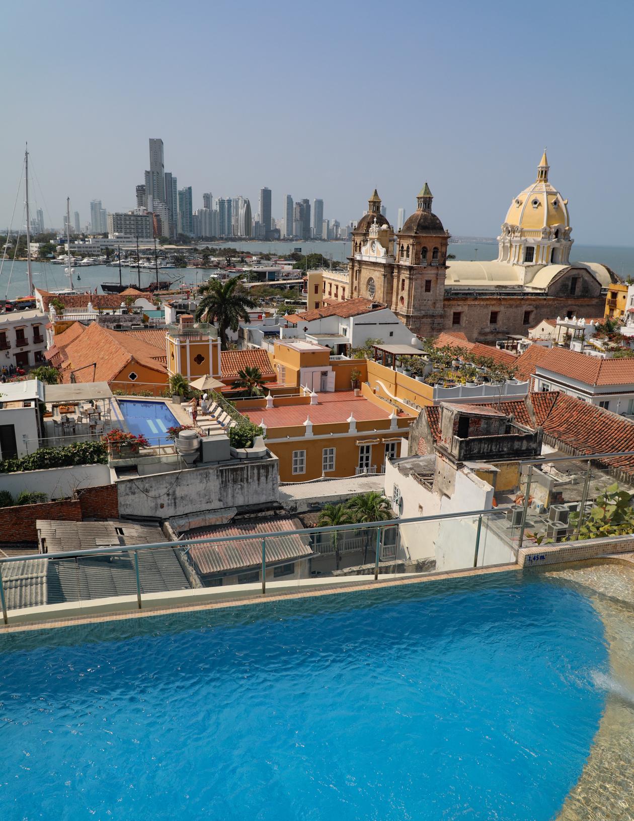 uitzicht op Cartagena