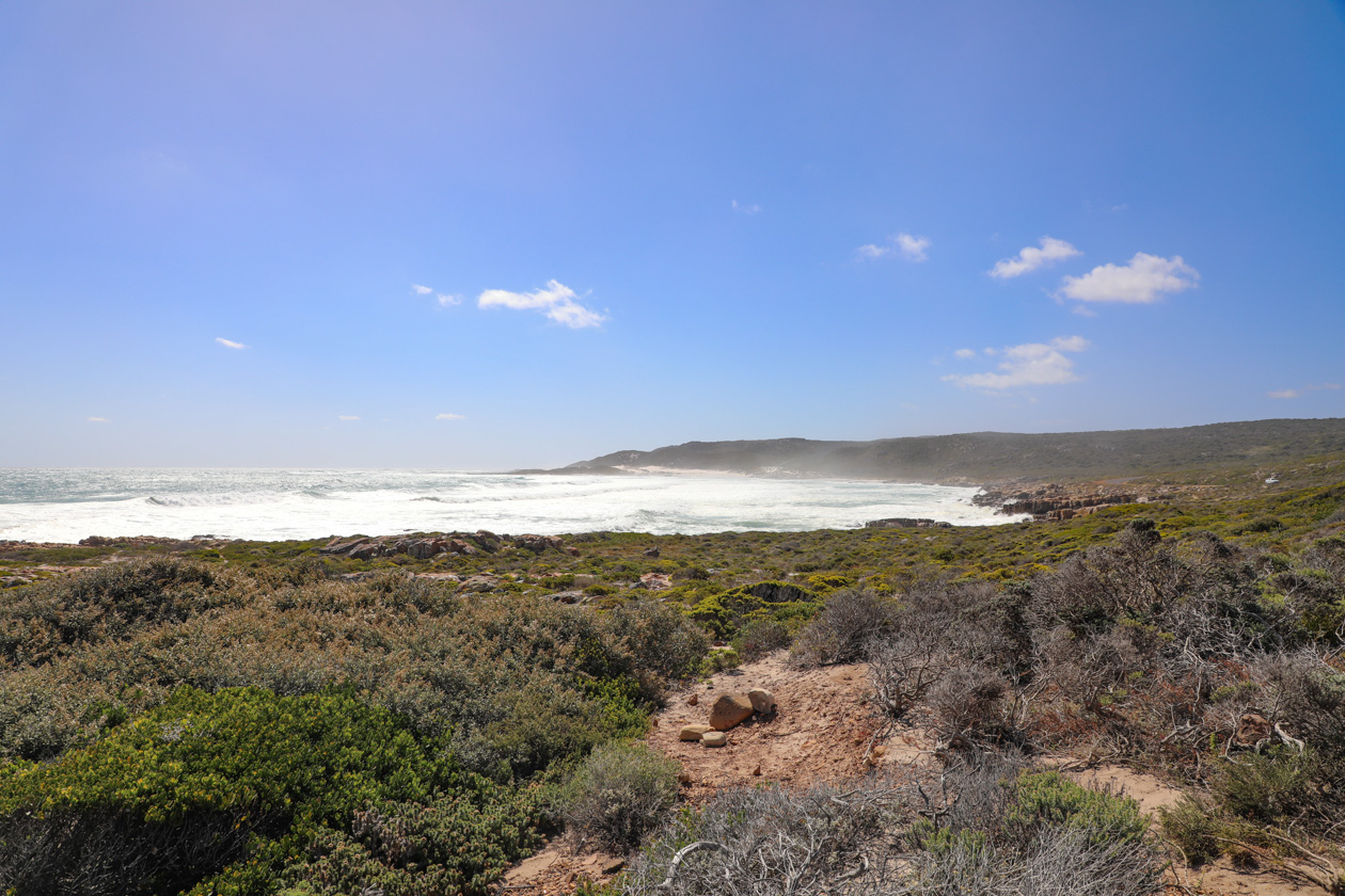 lanschap bij Cape of Good Hope