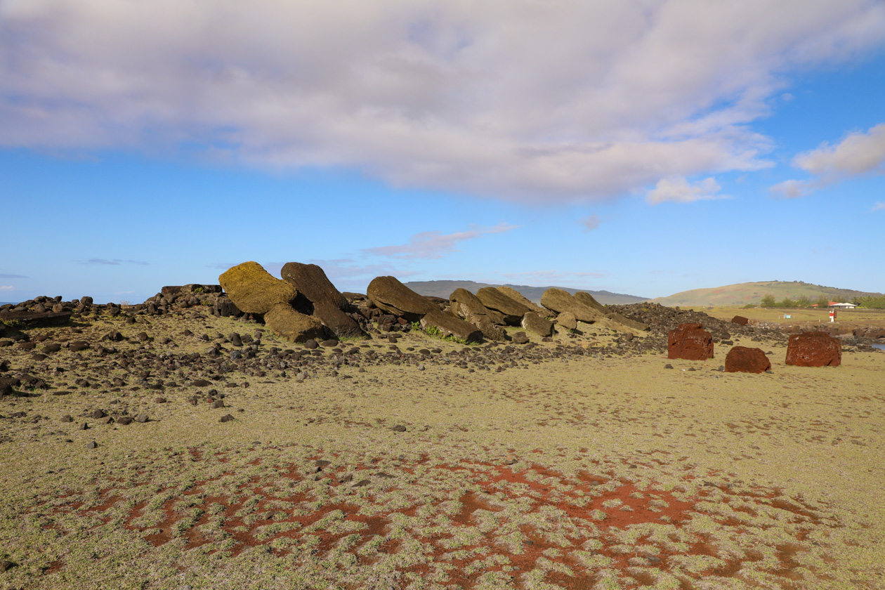 platliggende moai